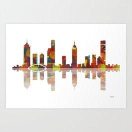 Melbourne Skyline 2 Art Print