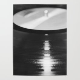 Record (Black and White) Poster
