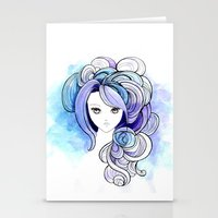 waterfall Stationery Cards featuring Waterfall by Sherry Yuan