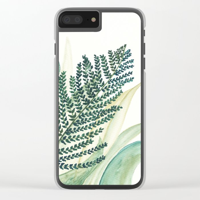 Botanical vibes 02 Clear iPhone Case