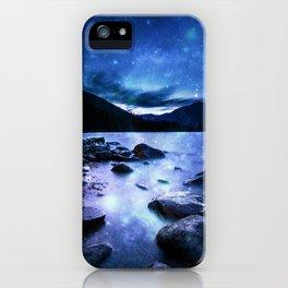 Magical Mountain Lake Blue iPhone Case