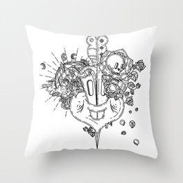 SEXY PSYCO LOOPING_Stab me baby one more time Throw Pillow