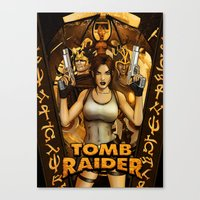 tomb raider Canvas Prints featuring Tomb Raider by KeithByrneFX