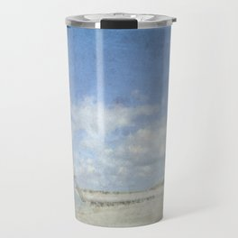 Talacre lighthouse textured Travel Mug