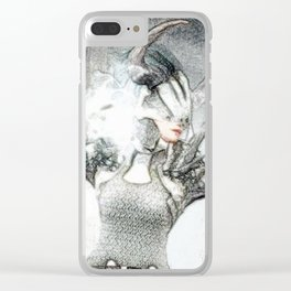 Ice skill by magician girl Clear iPhone Case