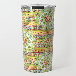 Fiesta Rainbow Mandala Travel Mug