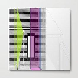 Architectural Stripes Metal Print