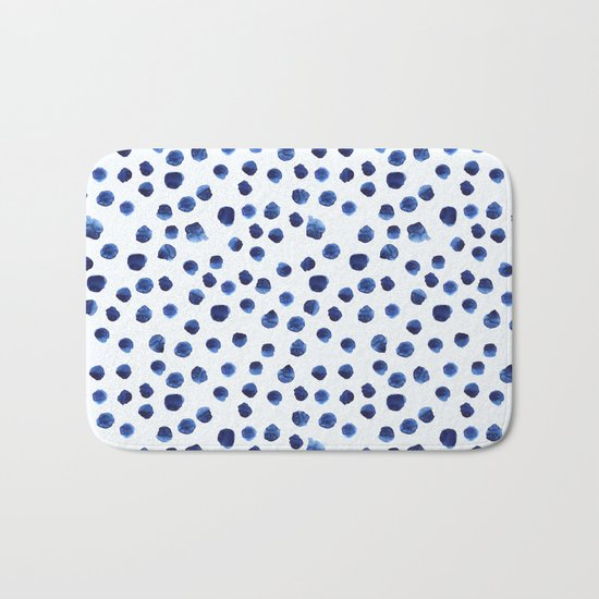 Blue brushstrokes Bath Mat