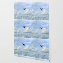 Flying stork Wallpaper