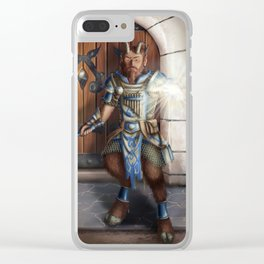 Satyr Cleric Clear iPhone Case