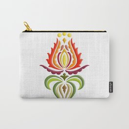 Fancy Mantle on White Carry-All Pouch