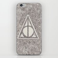 deathly hallows iPhone & iPod Skins featuring deathly hallows by Clara Lucie P