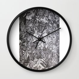 Lithe intention - Strained animation Wall Clock