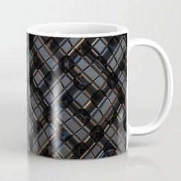 Abstract Geometric Metal City Pattern Wide Banner Coffee Mug