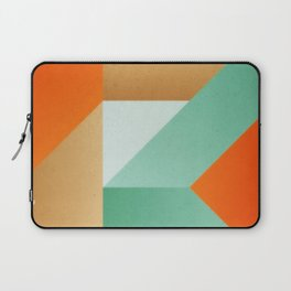 Abstract art - Color pattern 3 - green, orange , gold Laptop Sleeve