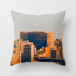 Sao Paulo Skyline II Throw Pillow