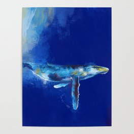 Deep Blue Whale Poster