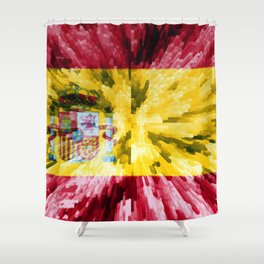Extruded Flag of Spain Shower Curtain