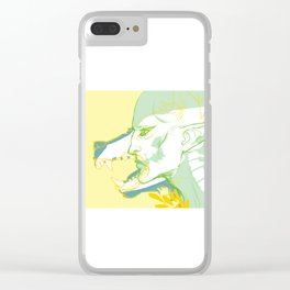 Dread Wolf Clear iPhone Case