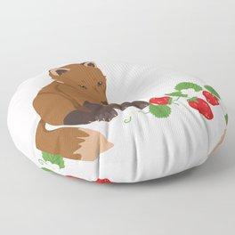 Strawberries for Fox Floor Pillow