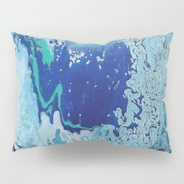 Overflowing Blue Abstract Pillow Sham