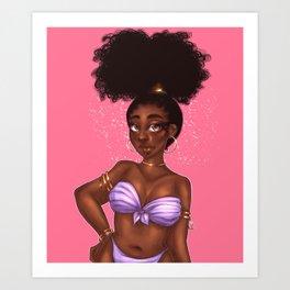 Beachy Babe 001 [szn3] Art Print