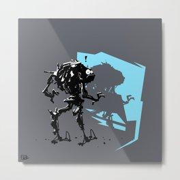 Robot Caught Metal Print