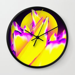 Sunny Mountain Wall Clock