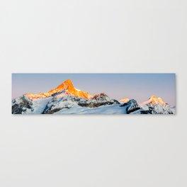 Zinalrothorn at sunrise Canvas Print