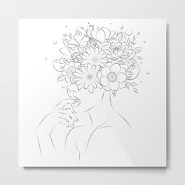 Thinking and blooming  Metal Print