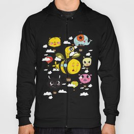 Happy Flight / The Animals Hot Air Balloon Voyagers / Patterns / Clouds Hoody