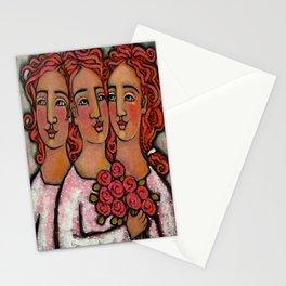 Trio Bridesmaids Stationery Cards