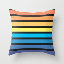 Stripe Sunset Throw Pillow