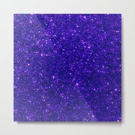 Glitter Blue Metal Print
