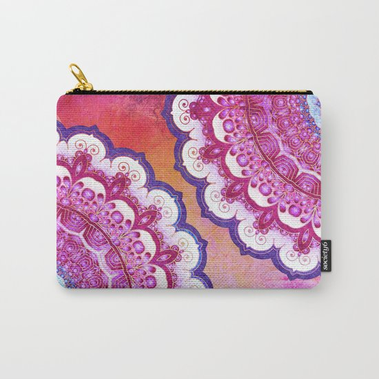 Colorful Watercolor Mandala Carry-All Pouch