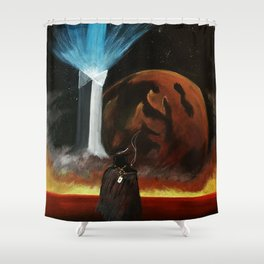 Redemption is Hell Shower Curtain