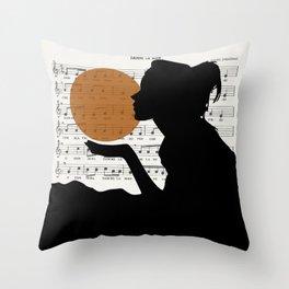 Music in the sun Throw Pillow