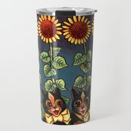 Cats & Sunflowers - Louis Wain Cats Travel Mug