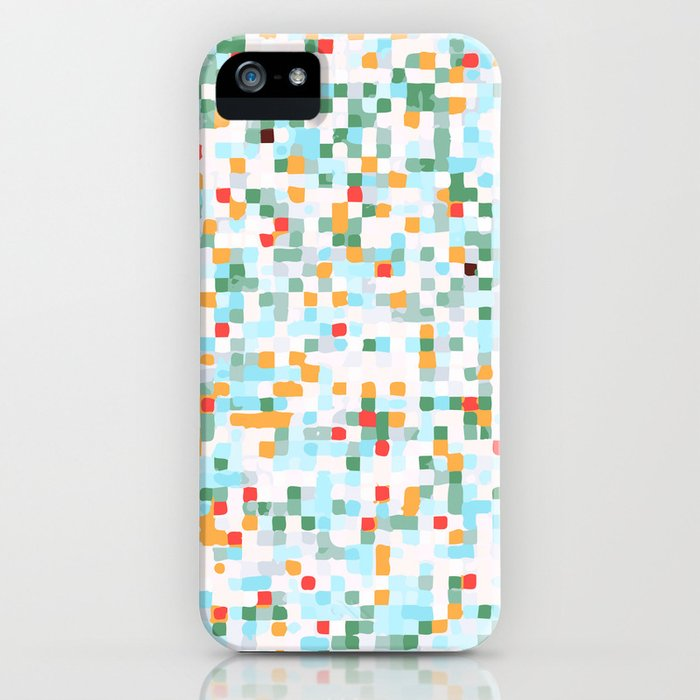 handmade coloured squares iPhone Case