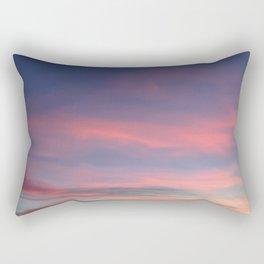 Pink sky in evening Rectangular Pillow