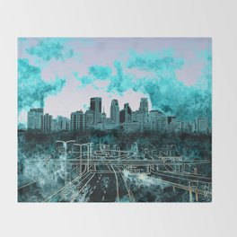 minneapolis city skyline Throw Blanket
