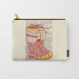 Bunker Boots (Firemen's boots in red and yellow) Carry-All Pouch