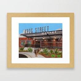 Krog Steet Market, Inman Park Framed Art Print