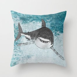 Sharky Throw Pillow