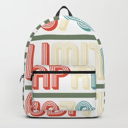 April Cool Vintage Retro Birthday Gift For Your Wife And Husband For Their 40th Birthday Natal Day Backpack
