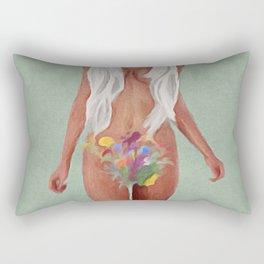 Flower Talk Rectangular Pillow