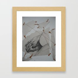 Holding On Framed Art Print