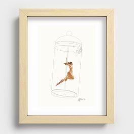 French Press Pole Dancer Recessed Framed Print