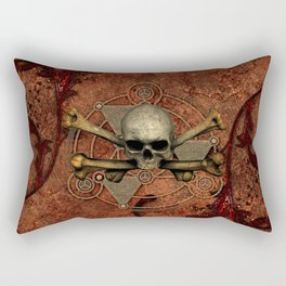 Awesome skull with bones Rectangular Pillow