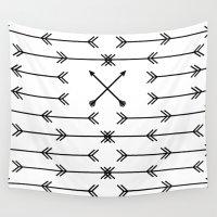 arrows Wall Tapestries featuring Arrows by Daniel DeVinney